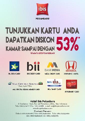 Hotel ibis Pekanbaru Beri Diskon Untuk Pelanggan Mall Ciputra dan Nasabah BII