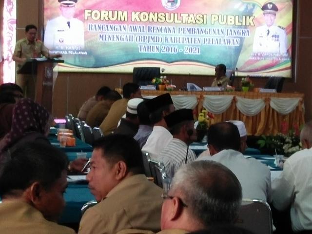 Pemkab Pelalawan Buka Forum Konsultasi Publik  Bahas  RPJMD Tahun 2016