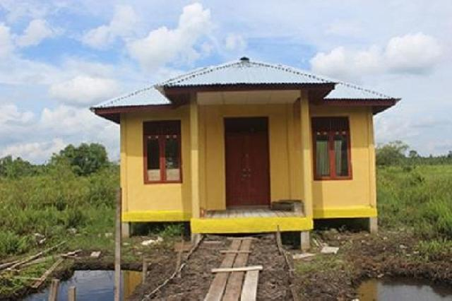 Gedung impian-ibu-ibu desa gemilang Inhil selesai dibangun