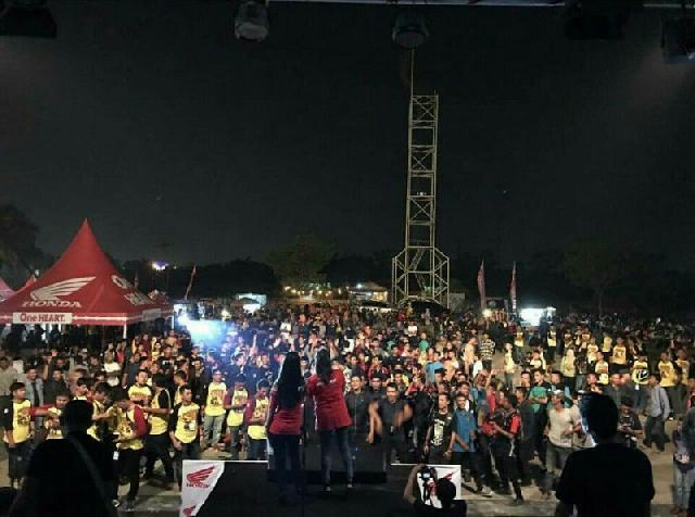 Ribuan Bikers Serta Tamu Undangan Meriahkan Jambore CBR Sumatera di Pekanbaru