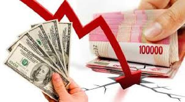 Rupiah melemah menuju level Rp 13.500 per USD