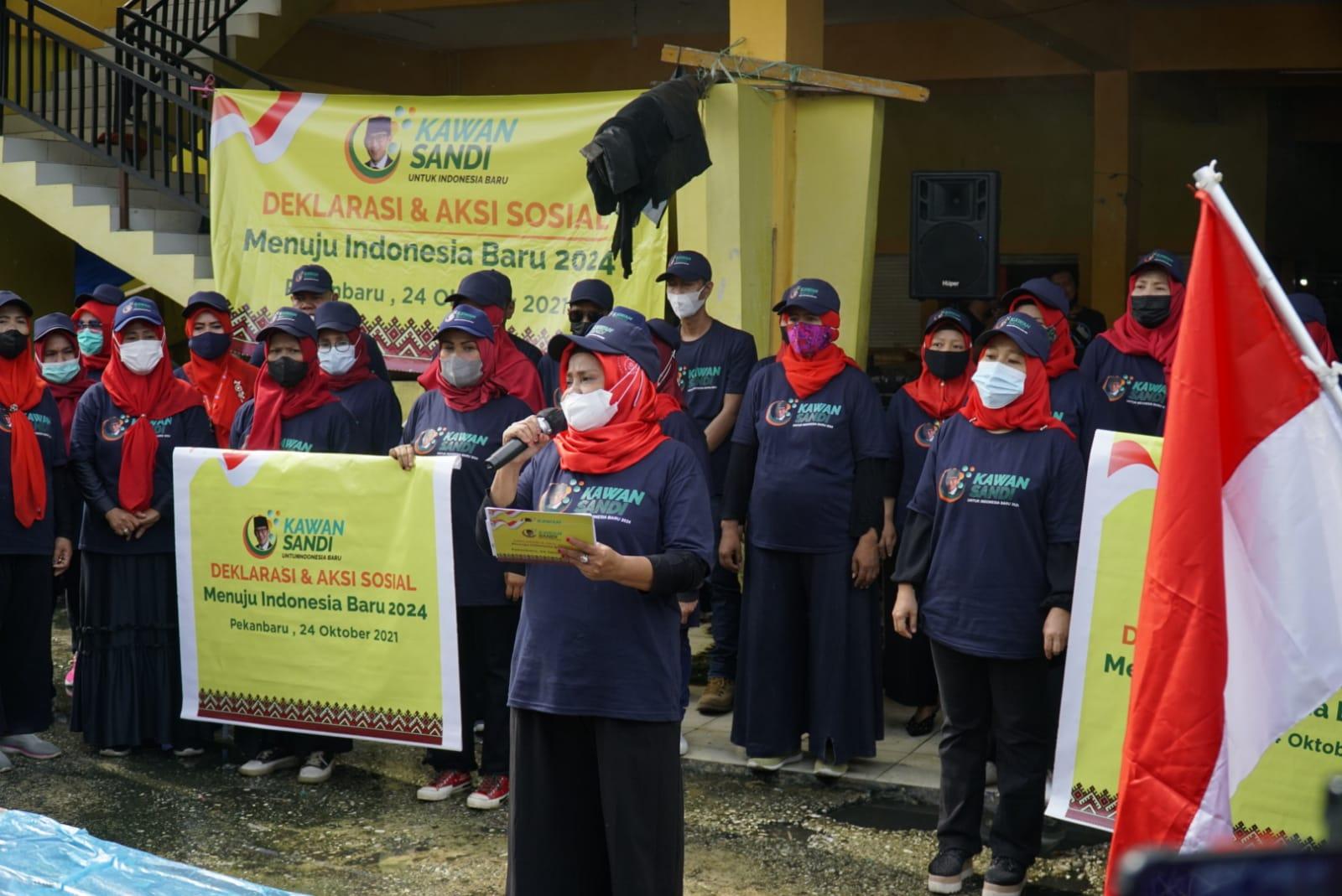 RKS Pekanbaru Deklarasikan Sandiaga Uno Calon Presiden 2024