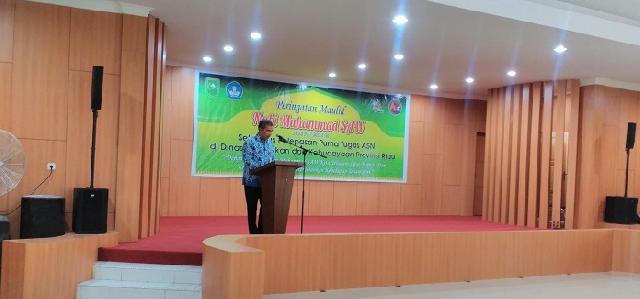 Disdikbud Riau Peringati Maulid Nabi Muhammad SAW