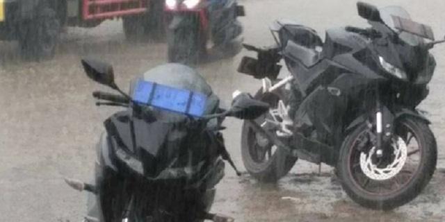 Tampilan Garang Teaser New YZF-R15 Kehujanan Saat Uji Coba
