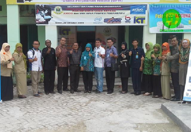 SMK BP Pekanbaru MoU dengan Axioo