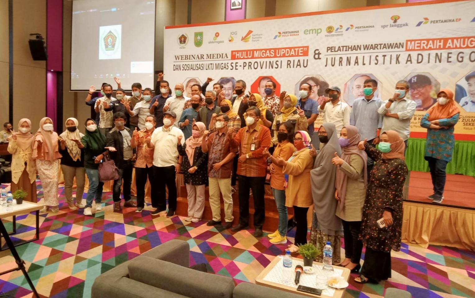 PWI Riau dan SKK Migas Sosialisasi LKTJ Migas dan Anugerah Jurnalistik Adinegoro