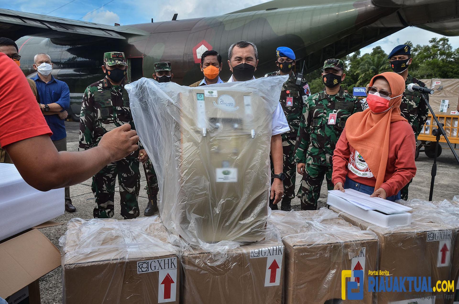 Foto Penampakan Kiriman Obat-obatan untuk Pasien Covid-19 di Riau Dari Presiden Jokowi