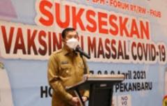 Pemko Pekanbaru Kembali Gelar Vaksinasi Massal, Ditinjau Langsung Presiden Jokowi
