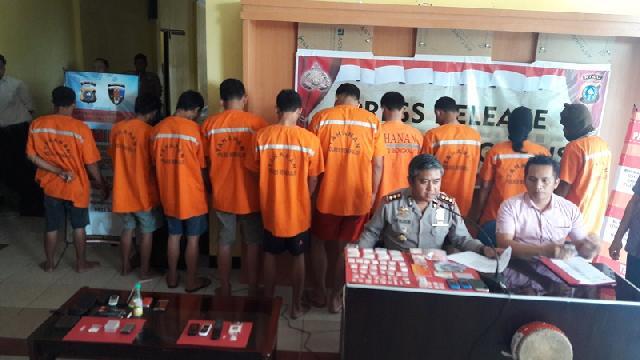 Lagi Pesta Sabu Dikantor, Tiga Honorer Disdik Diringkus Polres Bengkalis