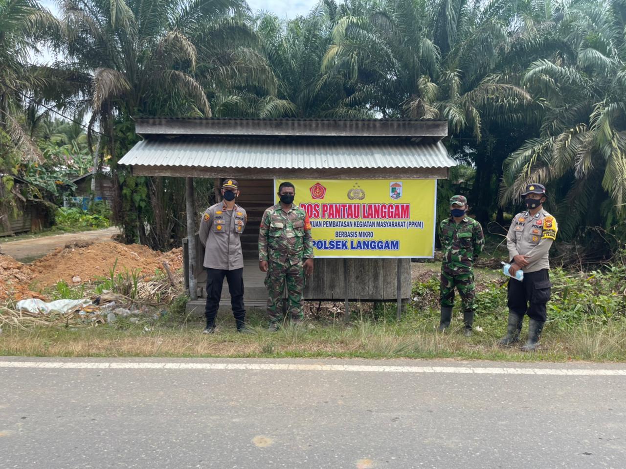 Kapolsek Langgam Pimpin Operasi Yustisi PPKM di Tiga Lokasi