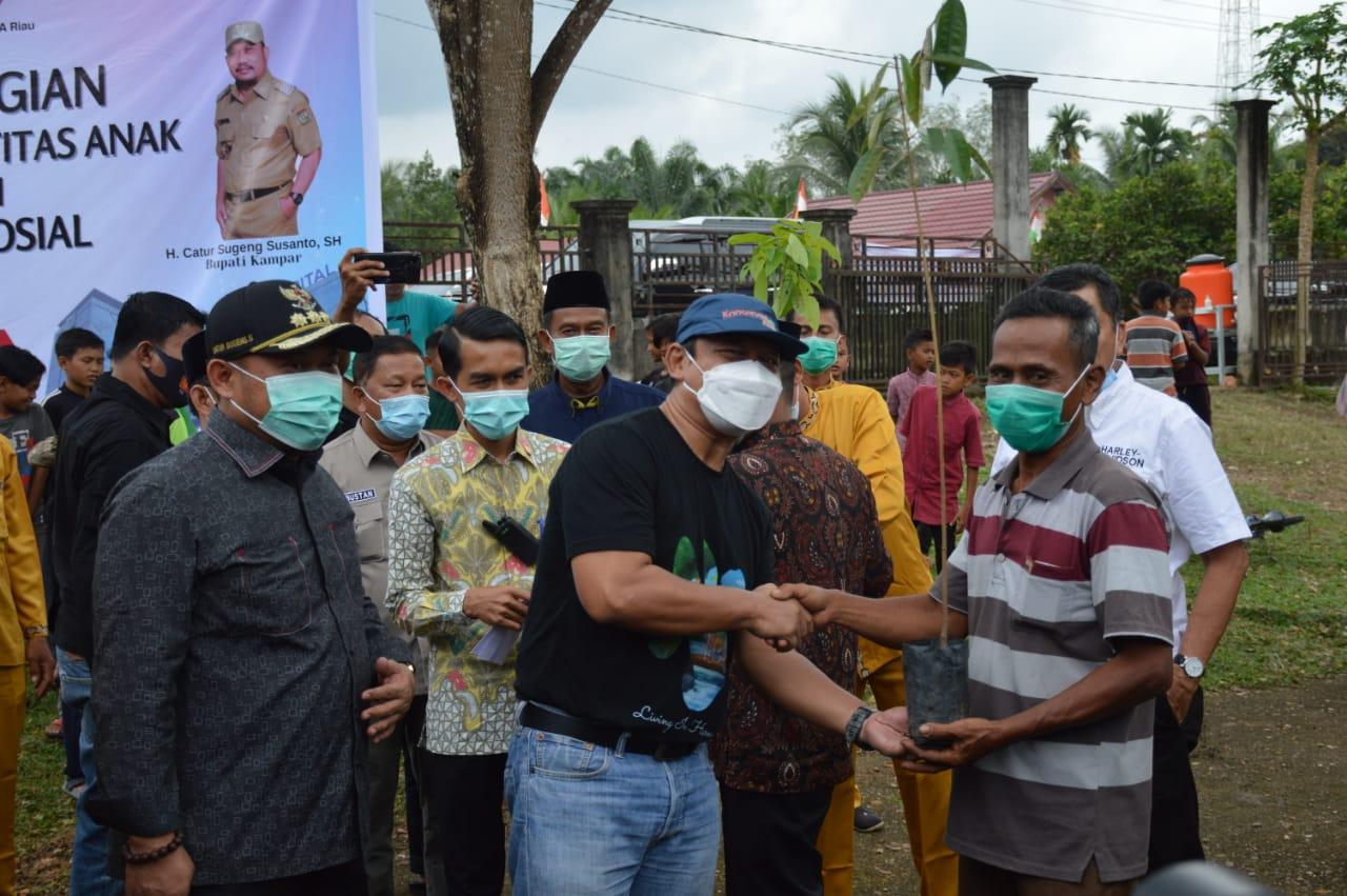 Balai Besar KSDA Riau bersama Pemkab Kampar Gelar Bakti Sosial