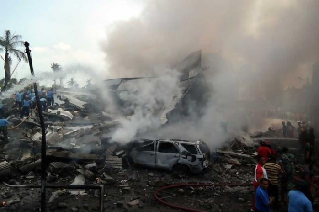 10 Anggota Paskhas TNI AU Kota Pekanbaru Berada Didalam Hercules Jatuh