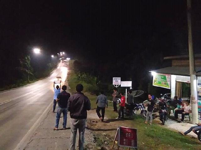 Demam Om Telolet Om. KNPI Pinggir Ingatkan Warga Keselamatan di Jalan