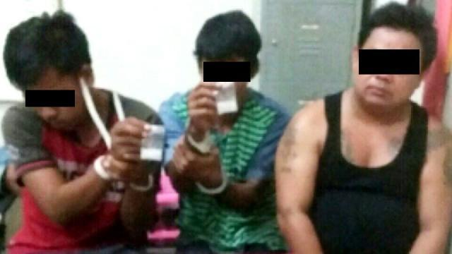 Tiga orang pengedar Narkoba di Kampar Kiri ditangkap Polisi