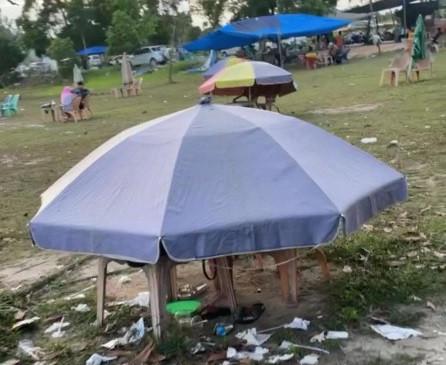 Satpol PP Didesak Tertibkan Payung Ceper Stadion Utama Riau