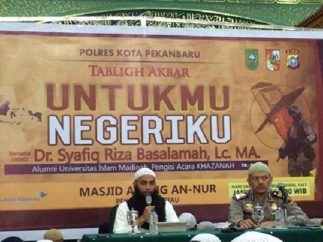 Pemko Pekanbaru Kembali Undang Ustadz Syafiq Riza Basalamah Isi Tausiah di Kota Bertuah, Ini Jadwaln