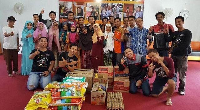Sambut tahun baru, Riau CBR Club sambangi empat panti sosial