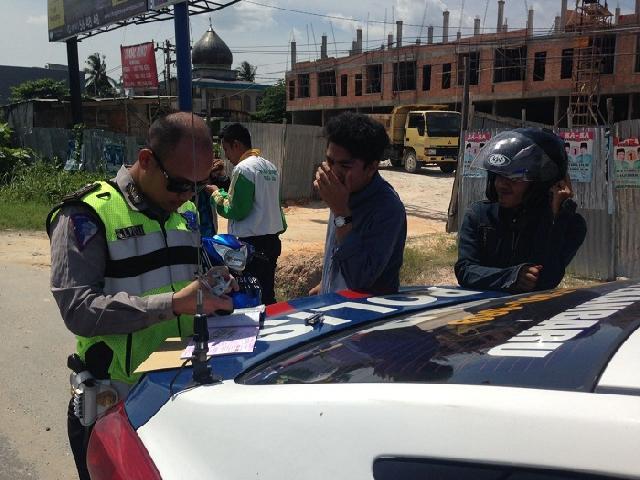 Tertib Helm Dan Sabuk Keselamatan, 51 Pelanggar Lalu Lintas Ditilang