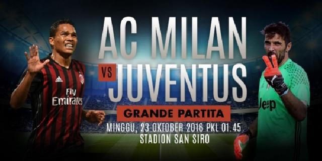 Prediksi AC Milan vs Juventus 23 Oktober 2016