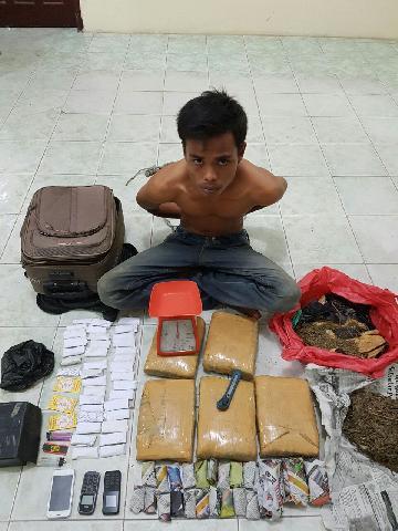 Polisi Amankan Ganja Kering 6 Kg