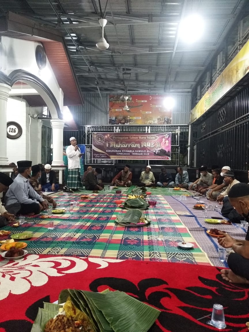 Sambut Tahun Baru Hiriyah 1443, Kerukunan Keluarga Kawulo Alit Tembilahan Gelar Zikir dan Doa Bersama