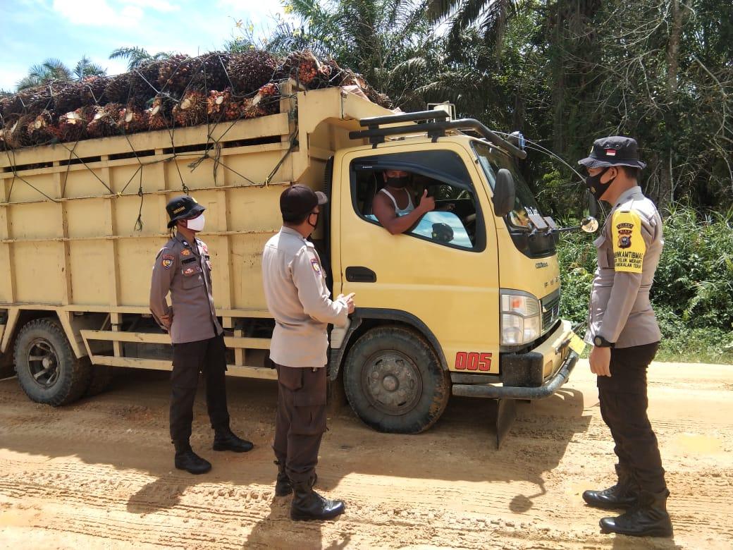 Prokes di Kecamatan Teluk Meranti di Pantau Polisi Setempat