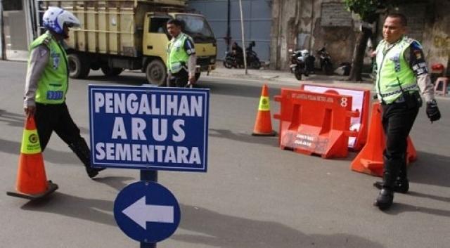 Berikut pengalihan arus lalu lintas Pekanbaru di malam tahun baru